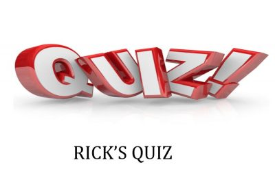 Rick's Quiz – 11 November 2016
